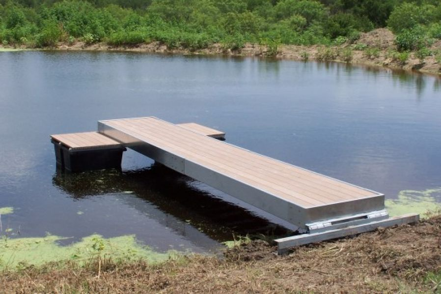 Floating fishing and swimming docks platinum ponds for How to build a small lake